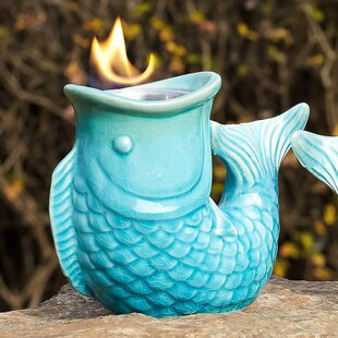 Evergreen Flag & Garden Poisson Tabletop torch