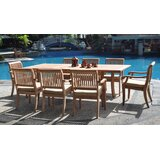 Masten 9 Piece Teak Dining Set