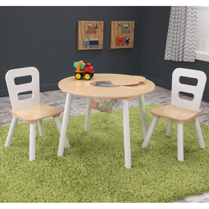 Terrific Kids 3 Piece Round Table And Chair Set Bralicious Painted Fabric Chair Ideas Braliciousco