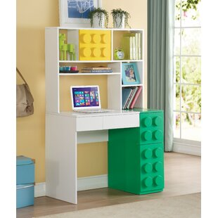Hymes Computer Desk with Hutch by Zoomie Kids