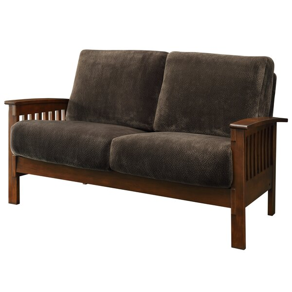Miraculous Mission Oak Loveseat Wayfair Uwap Interior Chair Design Uwaporg