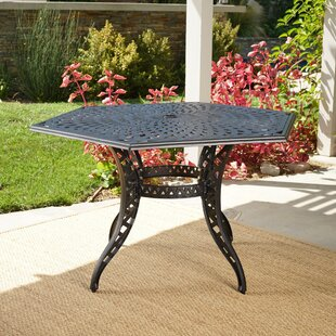 Fuller Metal Dining Table by Astoria Grand