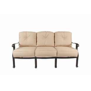 Fleur De Lis Living Chiasson Patio Sofa with Cushions