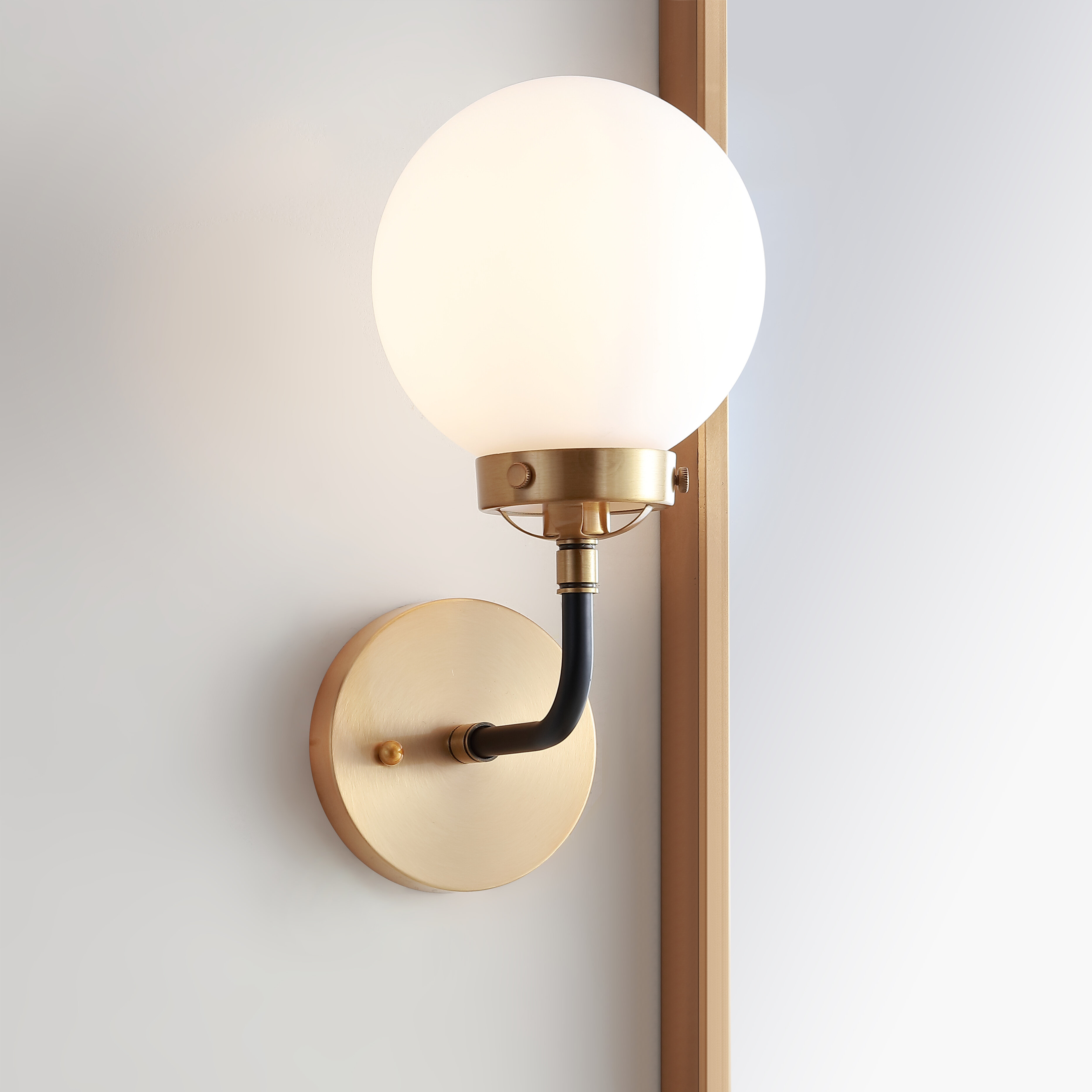 George Oliver Claudio 1 Light Dimmable Armed Sconce Reviews Wayfair Ca