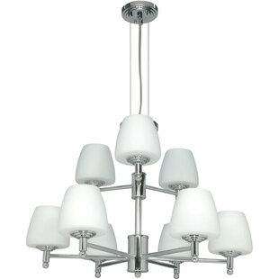 Vernonburg 9-Light Shaded Chandelier by Fleur De Lis Living