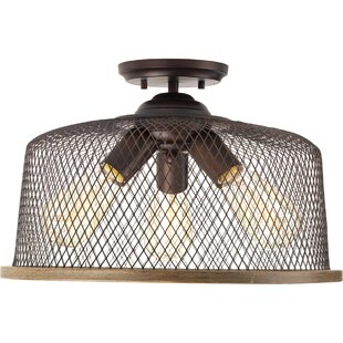 Murillo 3-Light Semi Flush Mount by Beachcrest Home