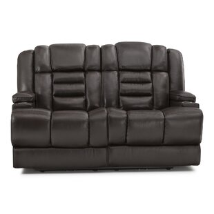 Leather Home Theater Loveseat By Red Barrel Studio