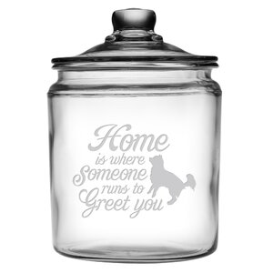Someone Runs to Greet You Half Gallon Treat Jar