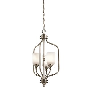 Winston Porter Kayleigh 3-Light Shaded Chandelier