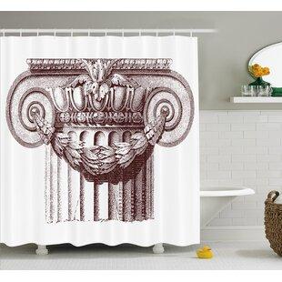 Ancient Antique Column Roman Single Shower Curtain