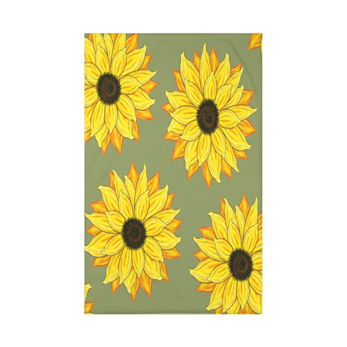 August Grove Vieux Sunflower Power Flower Print 4 Piece Napkin Set Wayfair