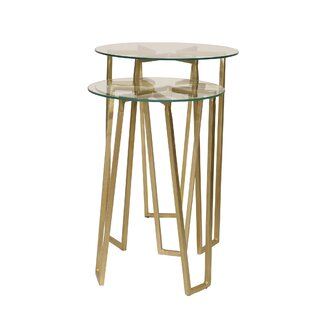 Gedrie 2 Piece Metal End Table Set