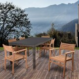 Persephone International Home Outdoor 7 Piece Dining Set