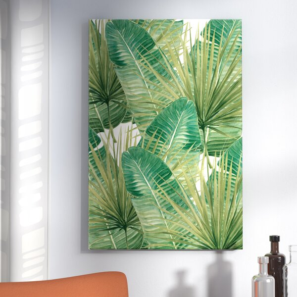 Langley Street 'green Palm Leaves' Graphic Art Print On Wrapped Canvas & Reviews by Langley Street