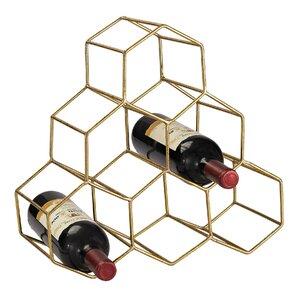 Stetson 6 Bottle Tabletop Wine Bottle Rack