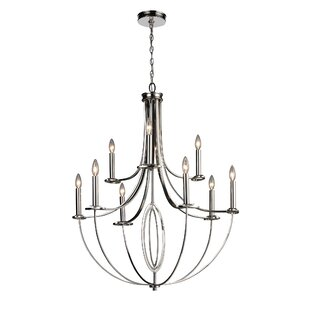 Best Reviews Mericle 9-Light Candle-Style Chandelier By Red Barrel Studio