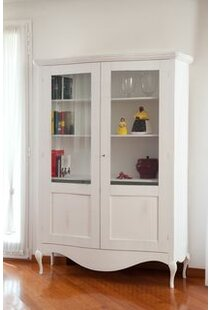 Colston Solid Wood Display Cabinet By Fleur De Lis Living