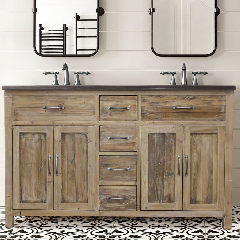 Foundry Select Shuman 60 Double Bathroom Vanity Set Wayfair