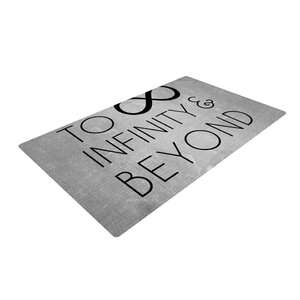 To Infinity & Beyond Gray/Black Area Rug