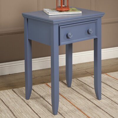Baileyville 1 Wood Drawer Nightstand Color: French Blue by Beachcrest Home