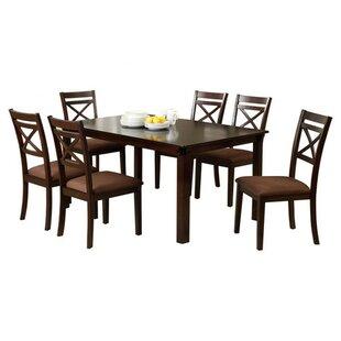 Easton 7 Piece Solid Wood Dining Set by Hokku Designs Savings