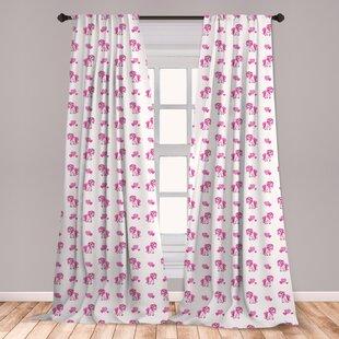 Pink Girls Room Curtains Wayfair