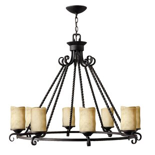 Jamar 8-Light Shaded Chandelier by Darby ..