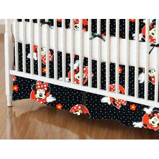 Great deal Minnie Mouse Dots Crib Skirt By Sheetworld