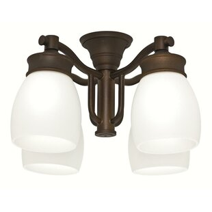 Affordable Outdoor 4-Light Branched Ceiling Fan Light Kit By Casablanca Fan