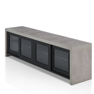 "Behan Transitional TV Stand for TVs up to 70"" Color: Black by Brayden Studio"