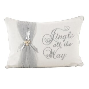Jingle All the Way Christmas Design Decorative Cotton Lumbar Pillow