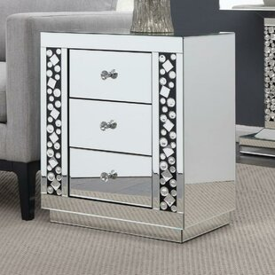 Montcalm 3 Drawer Glass End Table