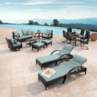 Cerralvo 16 Piece Sunbrella Complete Patio Set with Cushions