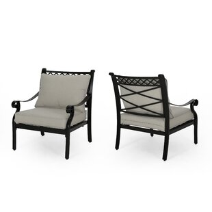 Sykes Outdoor Patio Chair with Cushions (Set of 2)