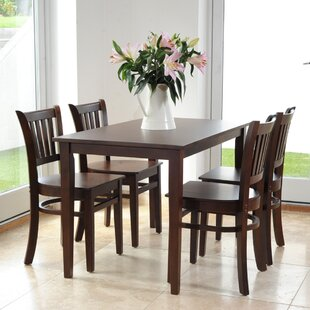 Keira Dining Set With 4 Chairs By Ophelia & Co.