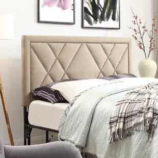 Brayden Studio Honore Nailhead Upholstered Headboard