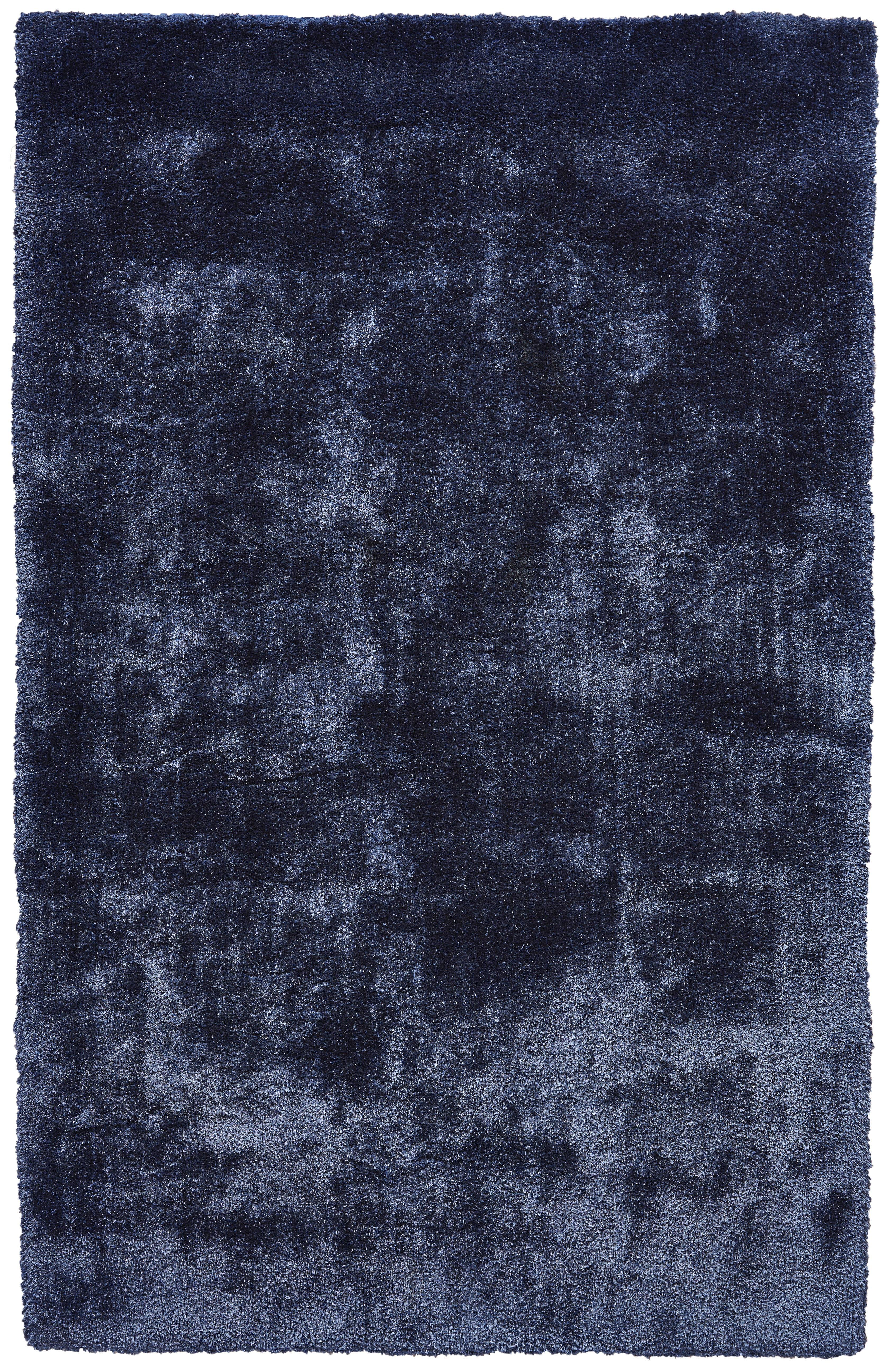 Ebern Designs Millie Hand Tufted Dark Blue Area Rug Reviews Wayfair