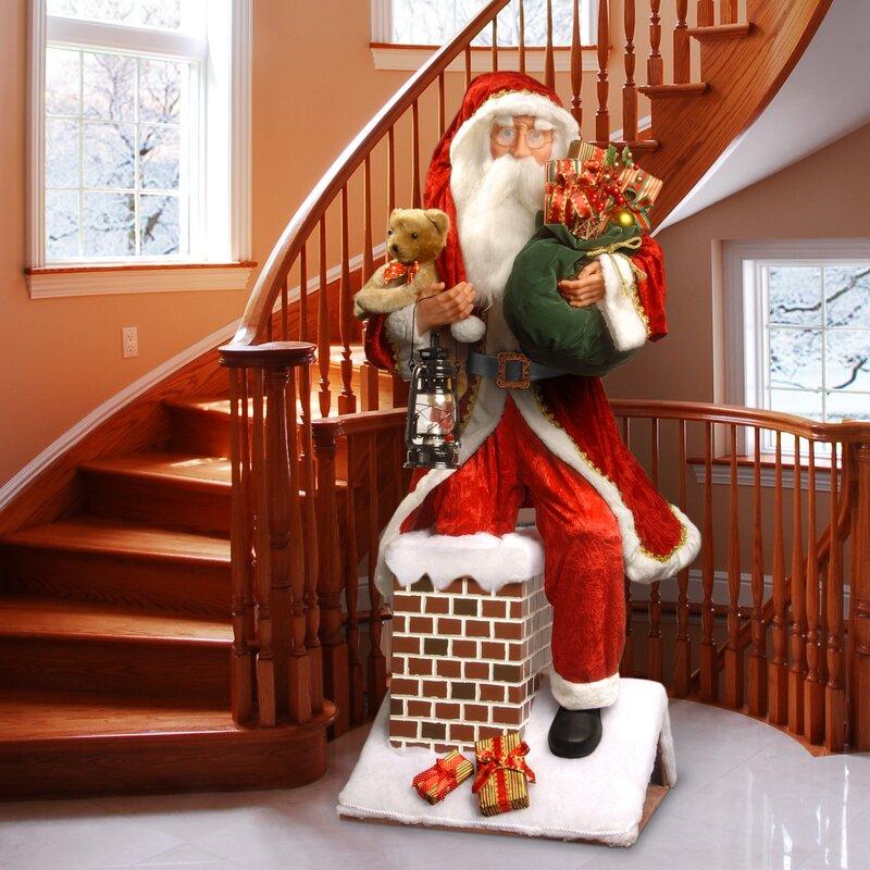 Chimney Christmas Decorations national tree co. plush décor plush santa climbing chimney