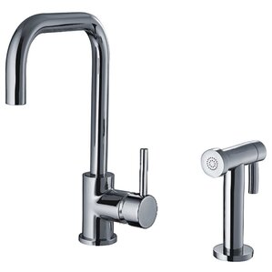 Whitehaus Collection Jem Single Handle Faucet with Swivel Spout and Side Spray