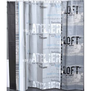 Atelier Loft Printed Single Shower Curtain