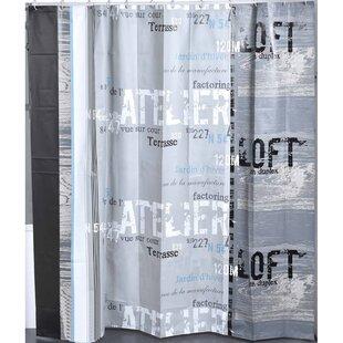 Atelier Loft Printed Single Shower Curtain
