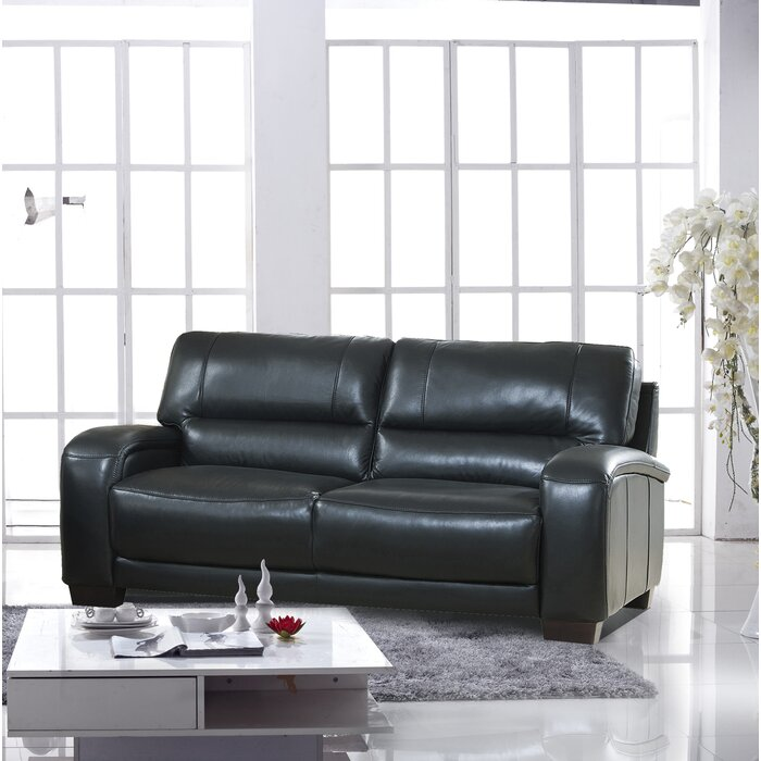 Terrific Hadsell Craft Leather Sofa Caraccident5 Cool Chair Designs And Ideas Caraccident5Info