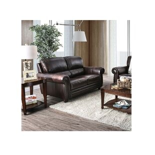 Brodeur Leather Standard Loveseat by Darby Home Co Cheap
