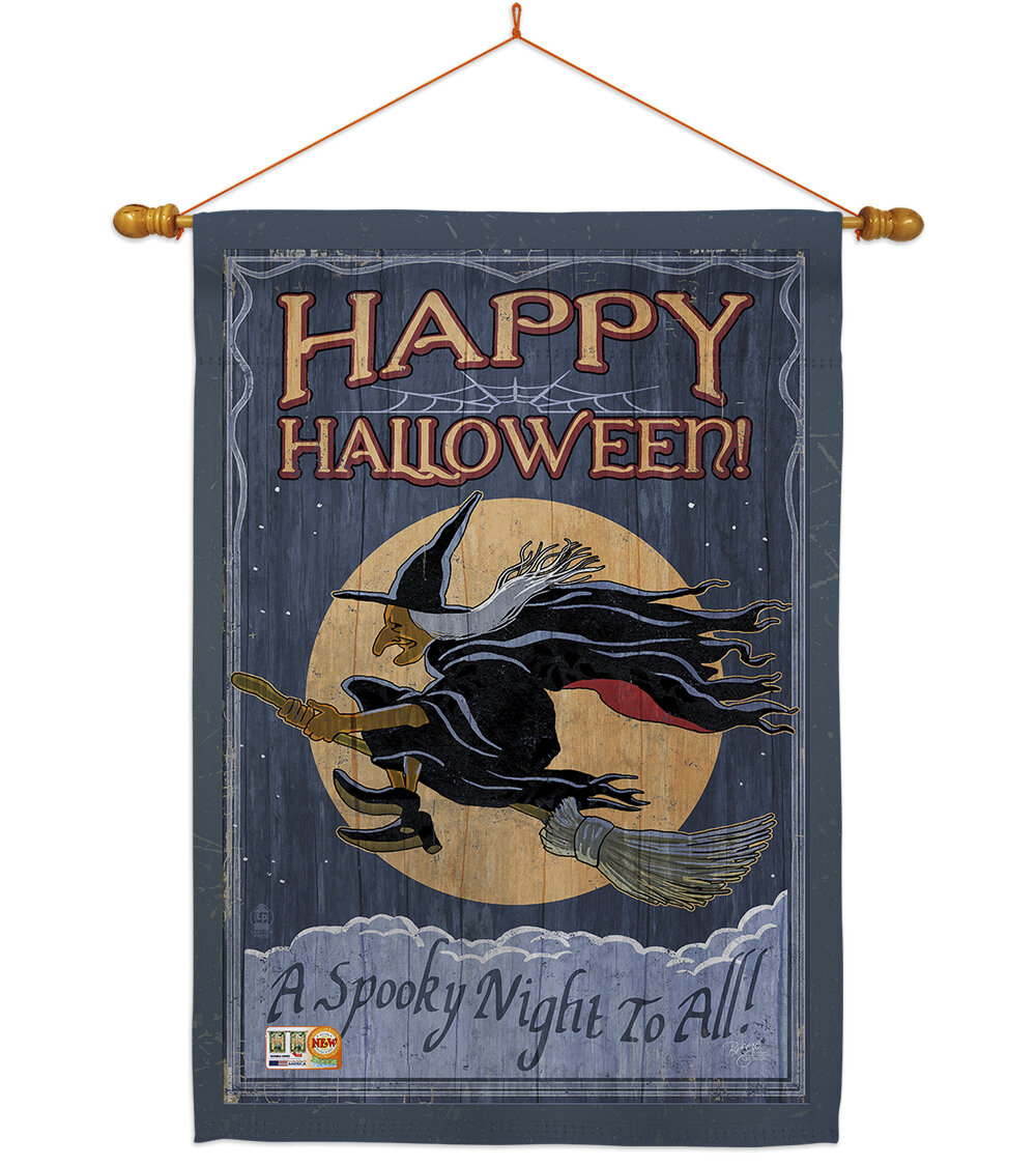 Breeze Decor A Spooky Night To All 2 Sided Polyester 40 X 28 In Flag Set Wayfair