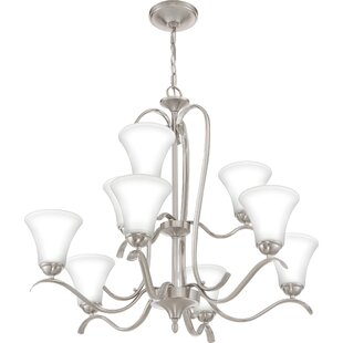 Charlton Home Newfane 9-Light Shaded Chandelier