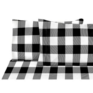 Rotteck 4 Piece Nordic Adventure Buffalo Plaid Flannel Sheet Set