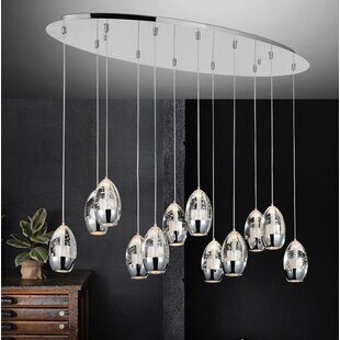 Bagley 12-Light Cascade Pendant by Orren Ellis