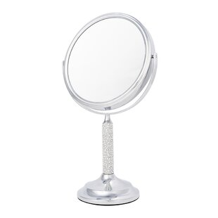 Searching for 5x Magnify Crystal and Pearl Makeup Mirror ByLatitude Run