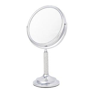 5x Magnify Crystal and Pearl Makeup Mirror ByLatitude Run