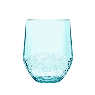 Review Cube 384ml Plastic Drinking Glass (Set Of 4)